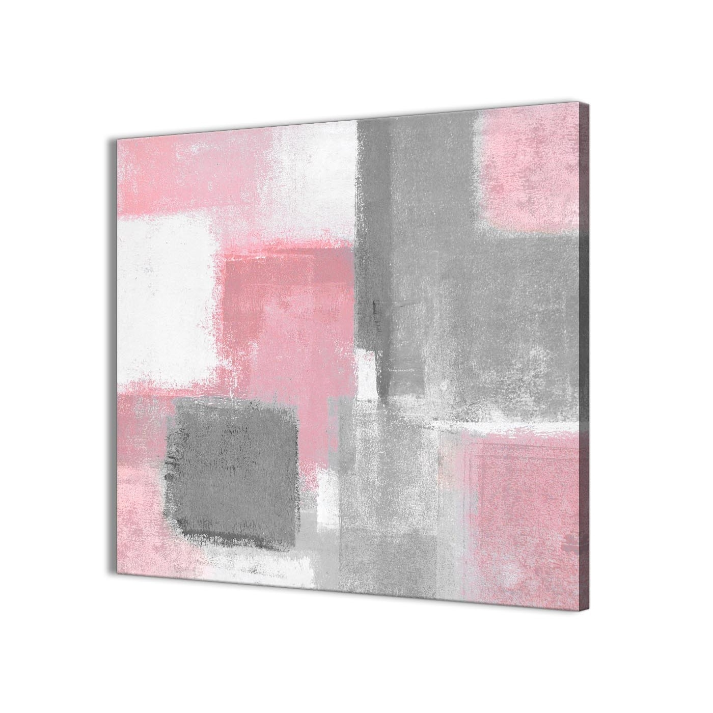 Famous Gray Canvas Wall Art With Regard To Blush Pink Grey Painting Hallway Canvas Wall Art Decorations (View 2 of 15)
