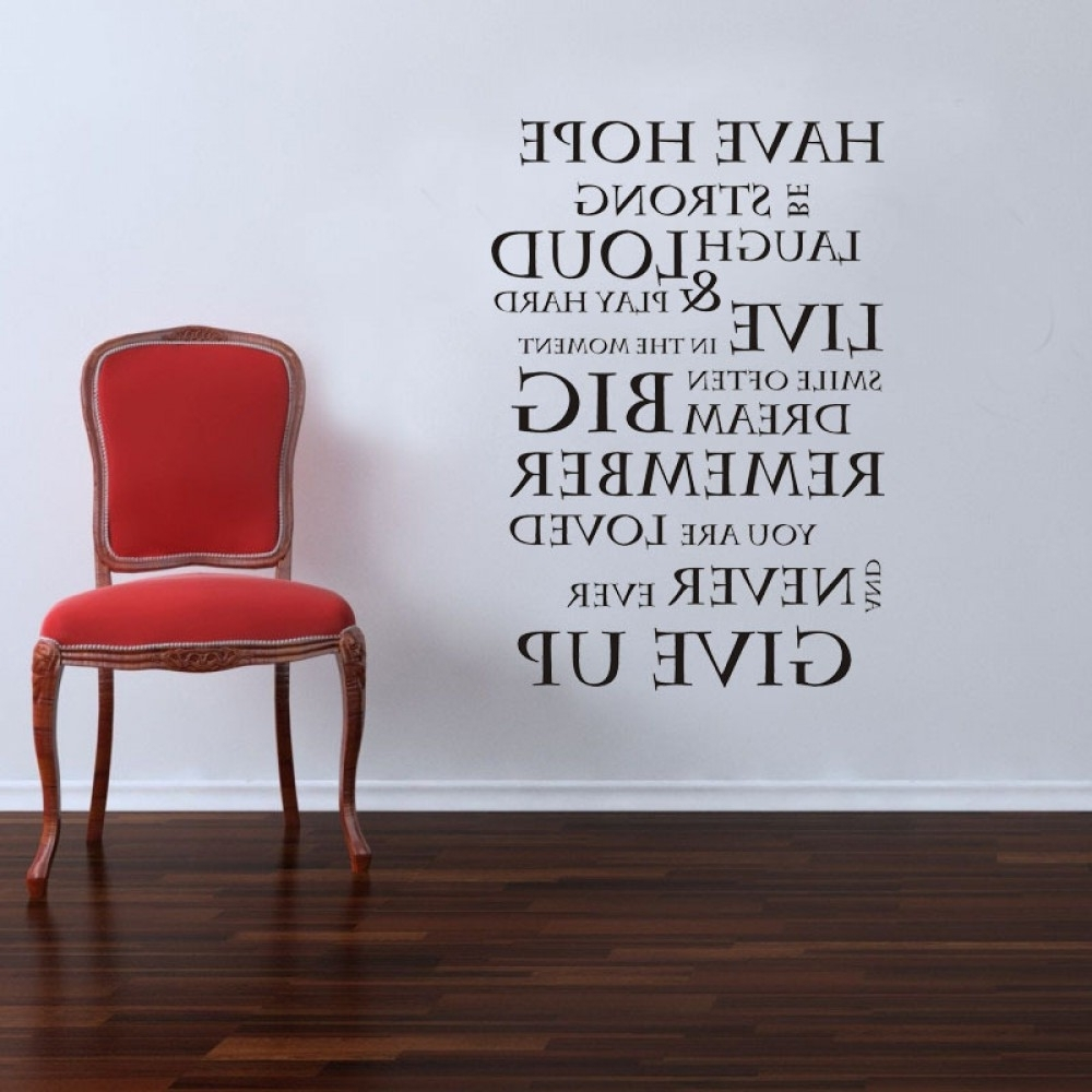 Famous Inspirational Quote Wall Stickers Family Lettering Wall Decals In Inspirational Quotes Wall Art (View 9 of 15)
