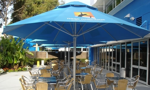 Famous Jumbo Patio Umbrellas Throughout 5M Jumbo Umbrellas With Cafe Seating – Instant Shade Umbrellas (View 4 of 15)