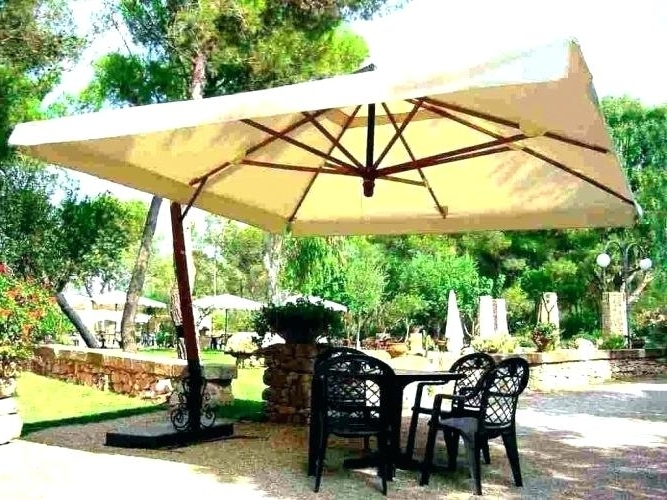 Famous Jumbo Patio Umbrellas With Regard To Giant Patio Umbrella For Medium Size Of Patio Umbrella Half Round (View 6 of 15)
