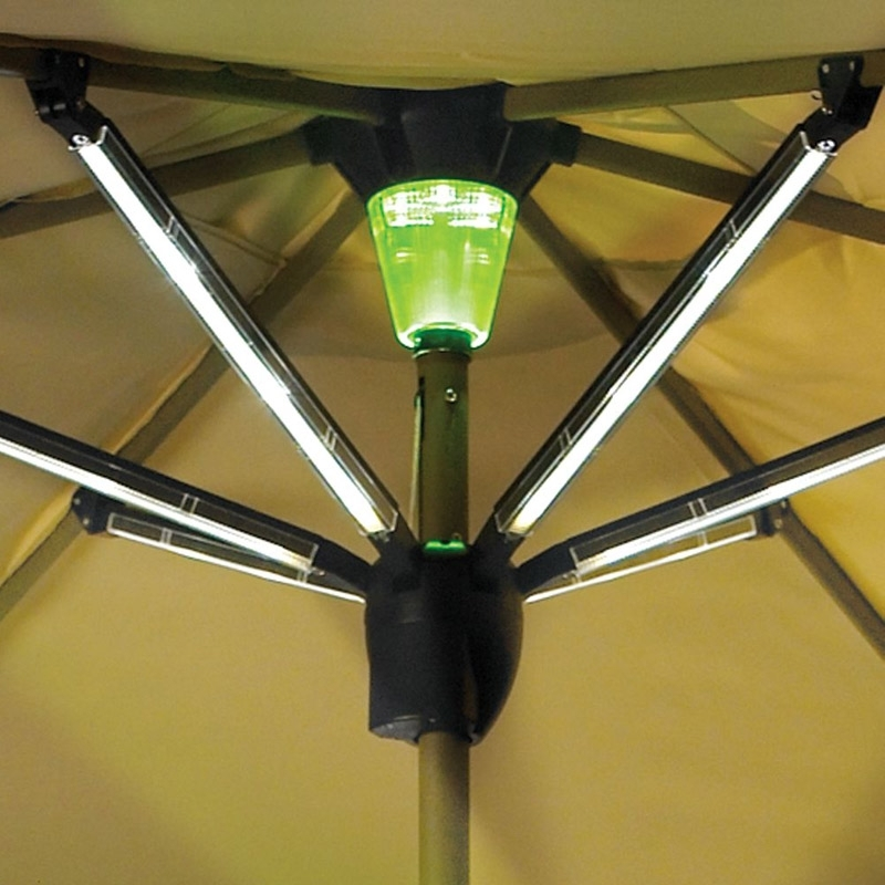 Famous Lighted Umbrellas For Patio For 53 Led Umbrella Patio, 9#039; New Solar 40 Led Lights Patio Umbrella (View 7 of 15)