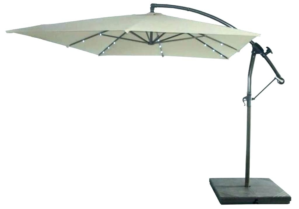 Famous Lighted Umbrellas For Patio Throughout Solar Patio Umbrella Lighted Umbrellas Fascinating Image Of (View 8 of 15)
