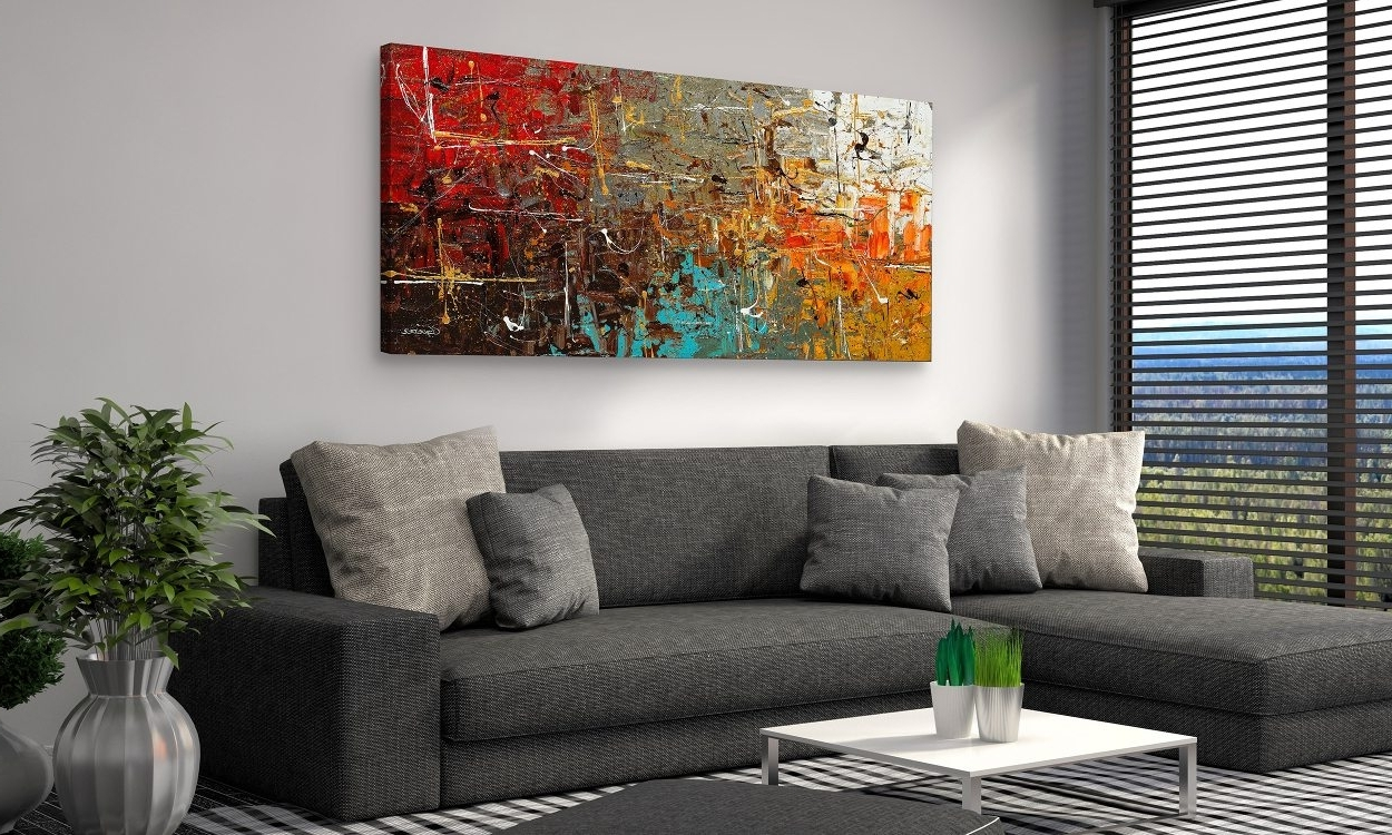 Famous Living Room Paintings Fascinating Wall Art Metal Large Wall Decor Inside Living Room Painting Wall Art (View 2 of 15)