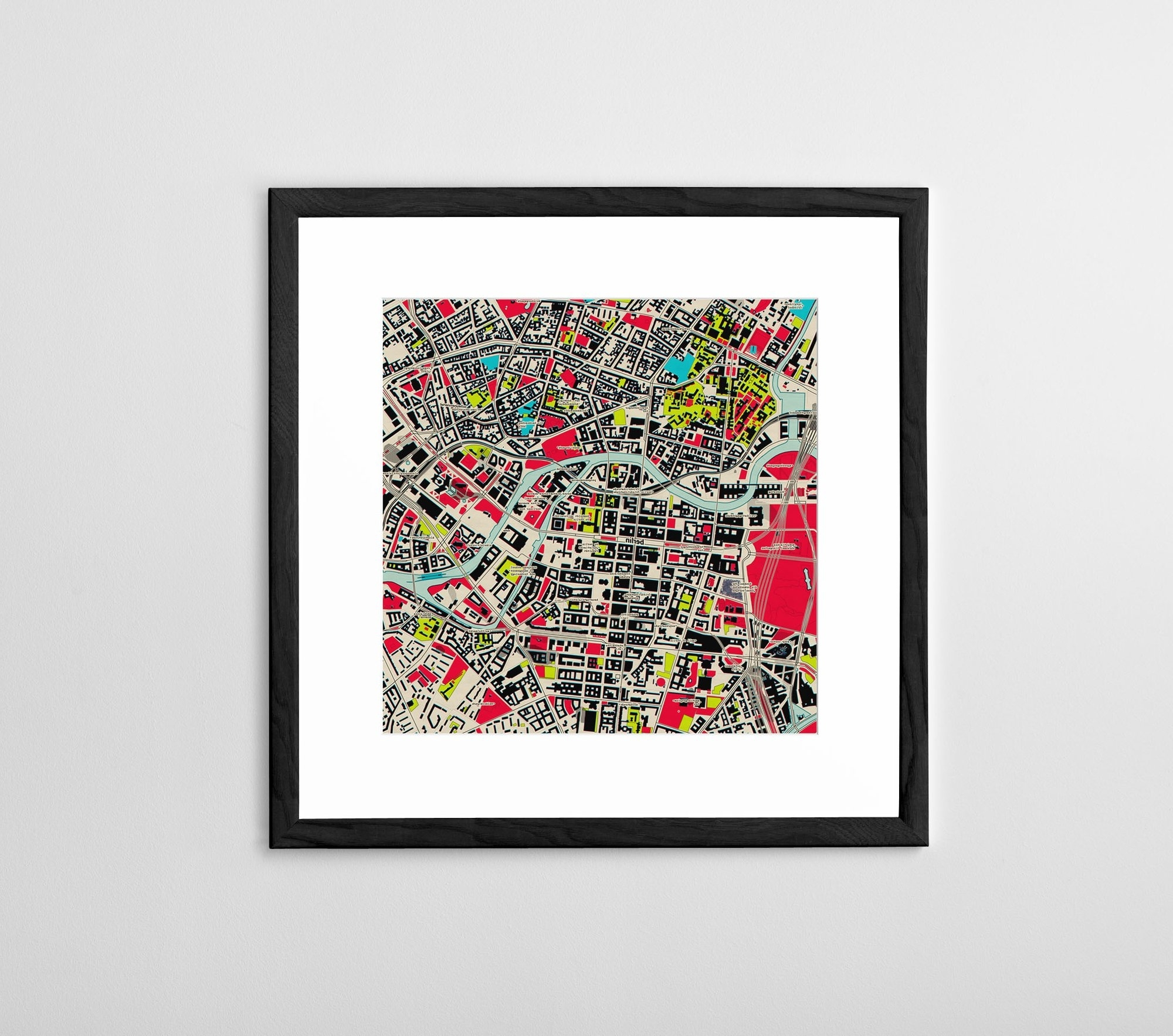 Famous Map Wall Art Prints Regarding Personalized Map Print, Poster Or Canvas – Posterhaste (View 2 of 15)