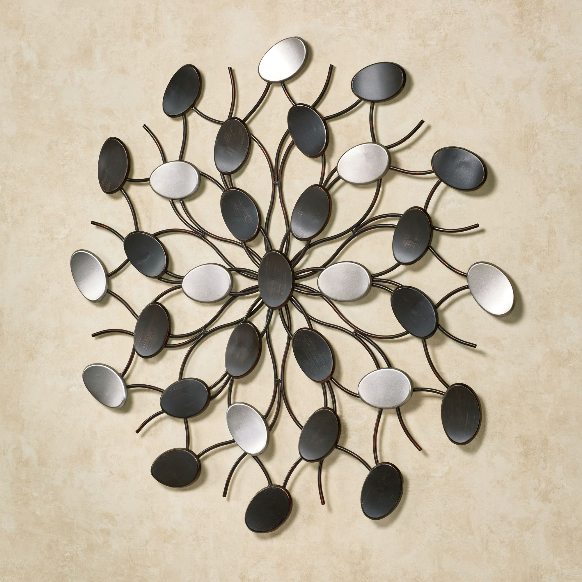 Famous Metal Wall Art Regarding Radiant Petals Abstract Metal Wall Art (View 2 of 15)