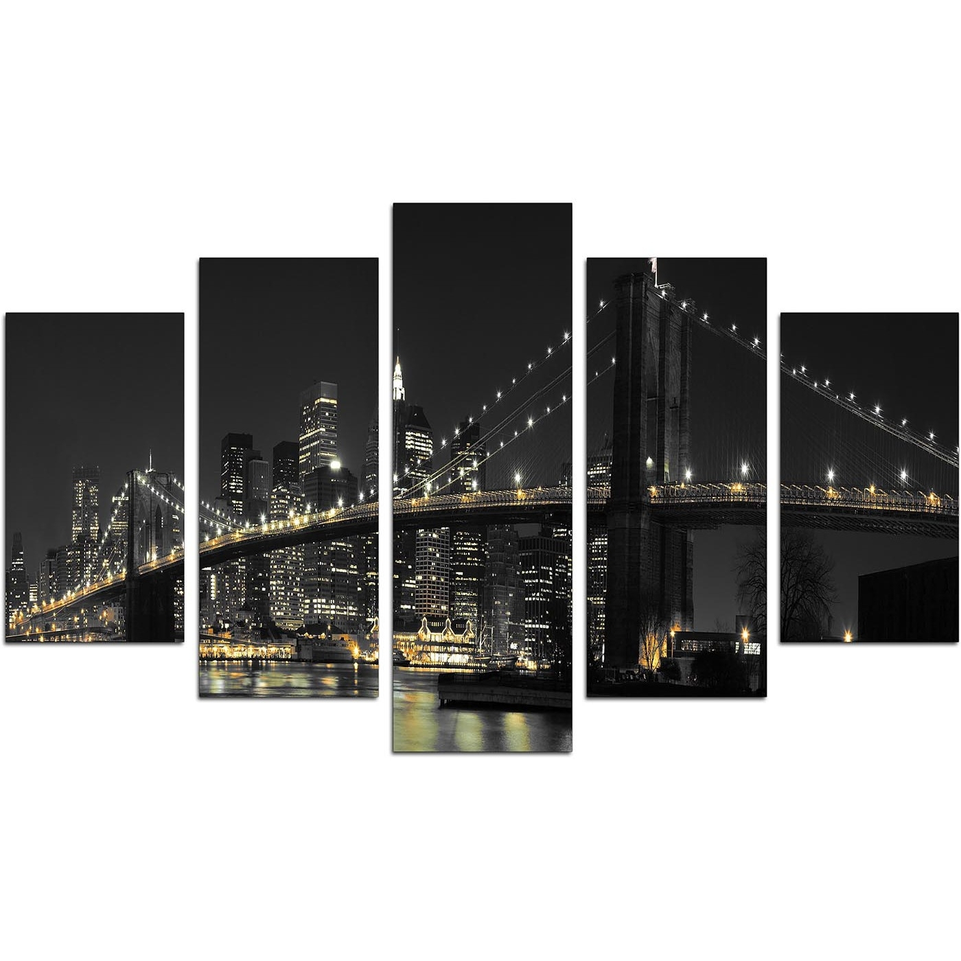 Famous New York Canvas Wall Art For Your Living Room – Set Of Five Throughout New York Canvas Wall Art (View 15 of 15)