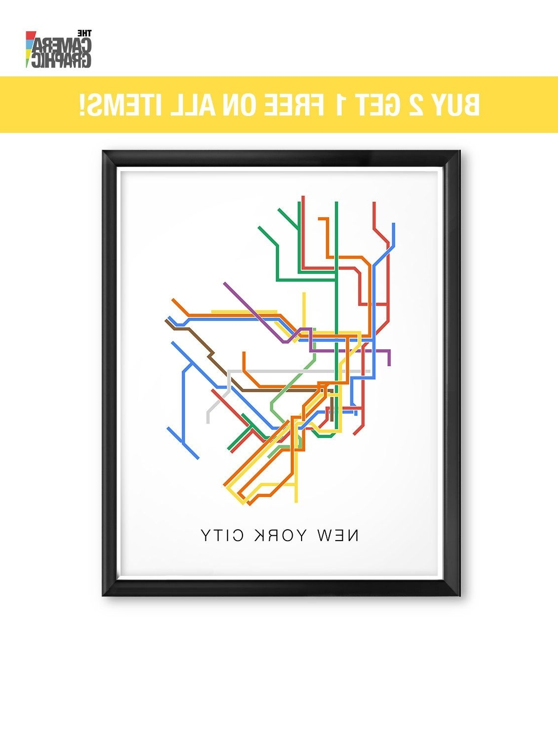 Famous Nyc Subway Map Wall Art With New York City Subway Map, City Transit Map Print, Nyc Map, Nyc Print (View 3 of 15)
