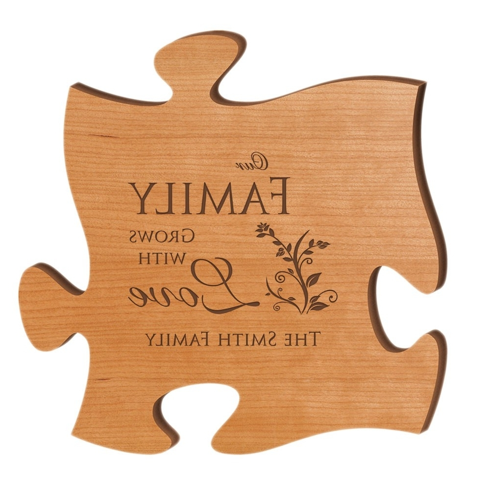 Famous Our Family Grows With Love Personalized Wood Puzzle Wall Art Intended For Personalized Wood Wall Art (View 4 of 15)