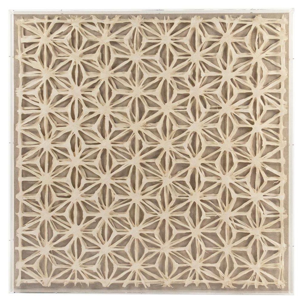 Famous Paper Wall Art Inside Bari Modern Classic Abstract Geometric Acrylic Framed Paper Wall Art (View 9 of 15)