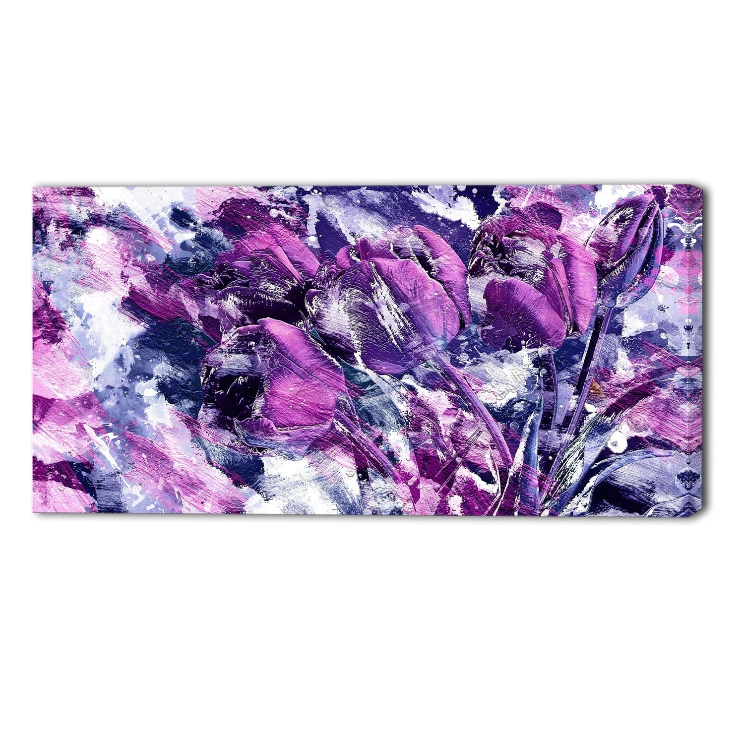 Famous Purple Bliss Floral Canvas Wall Art Print Jplt Fancy Purple Canvas In Purple Wall Art Canvas (View 5 of 15)