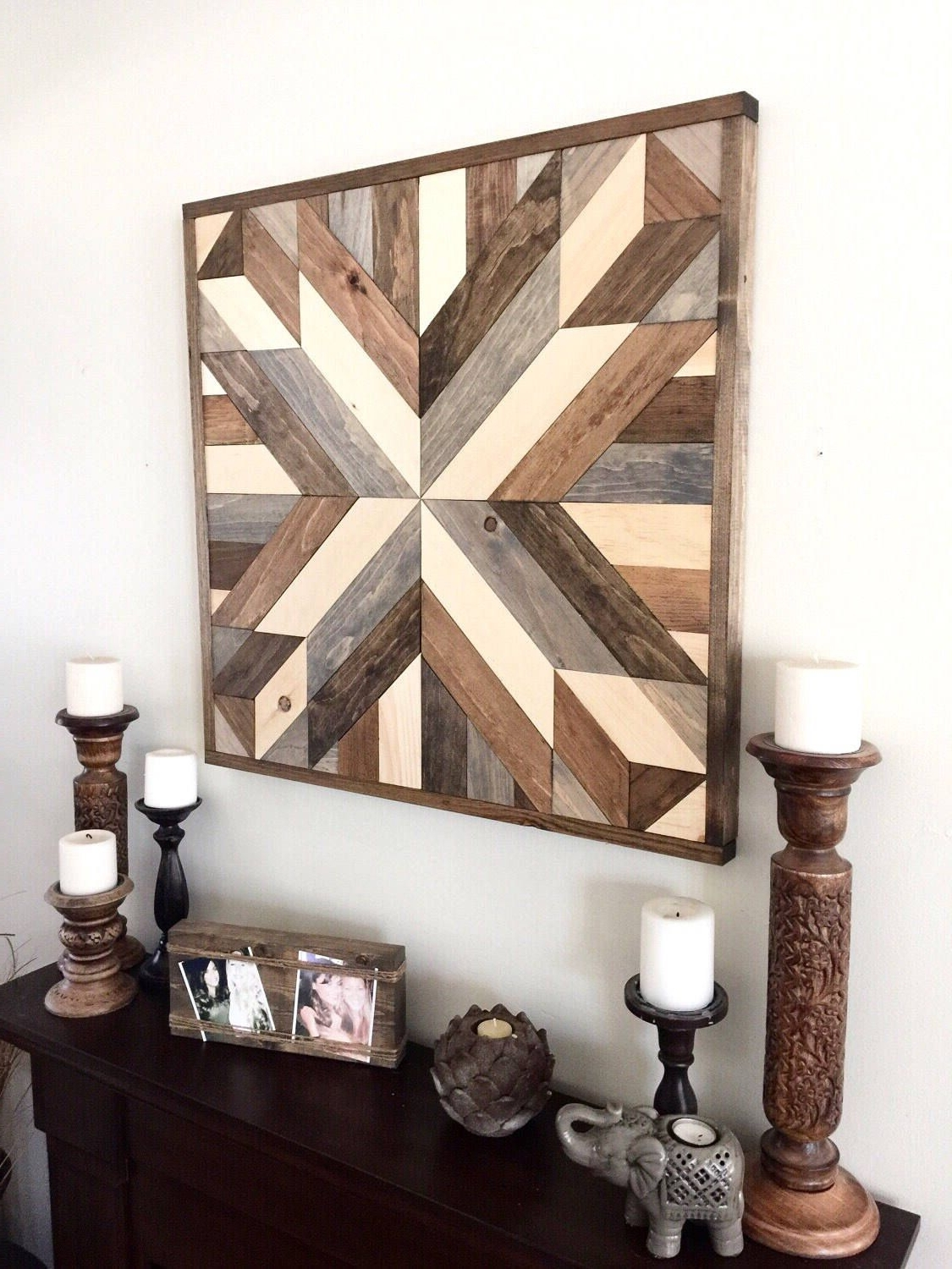 Famous Reclaimed Wood Wall Art Inside Reclaimed Wood Wall Art, Wood Art, Rustic Wall Decor, Farmhouse (View 3 of 15)