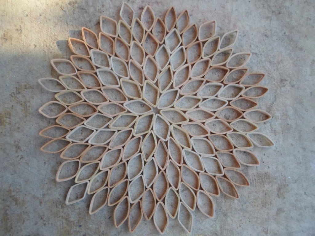 Famous Round Wall Art Pertaining To Dahlia Wall Decoration Paper Wall Hanging Trendy Wall Art Large (View 4 of 15)
