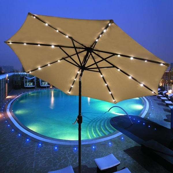 Famous Solar Patio Umbrellas Pertaining To Solar Panel Patio Umbrella – Armoiresinc (View 9 of 15)