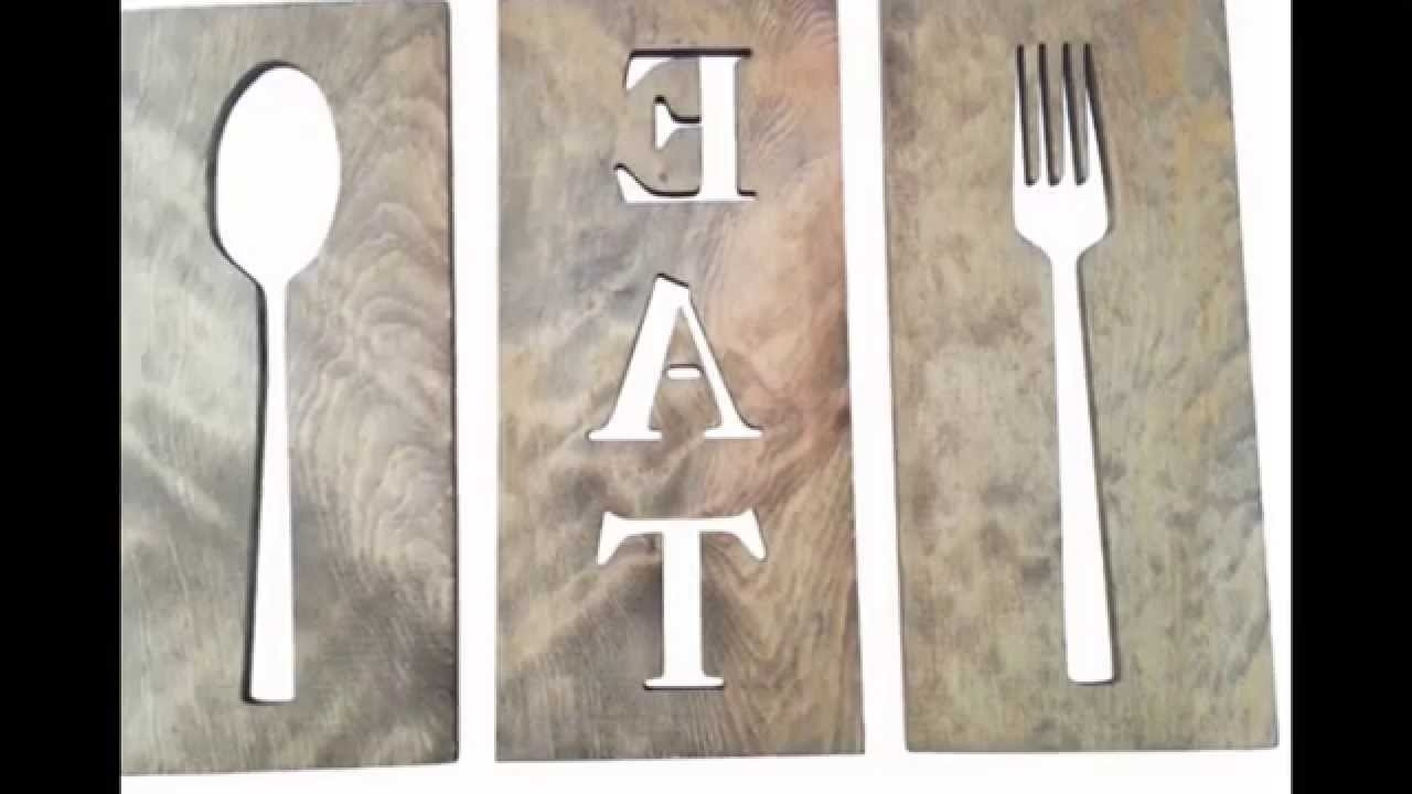 Famous Spoon And Fork Wall Decor # Diy Fork And Spoon Wall Decor – Youtube Inside Fork And Spoon Wall Art (View 5 of 15)