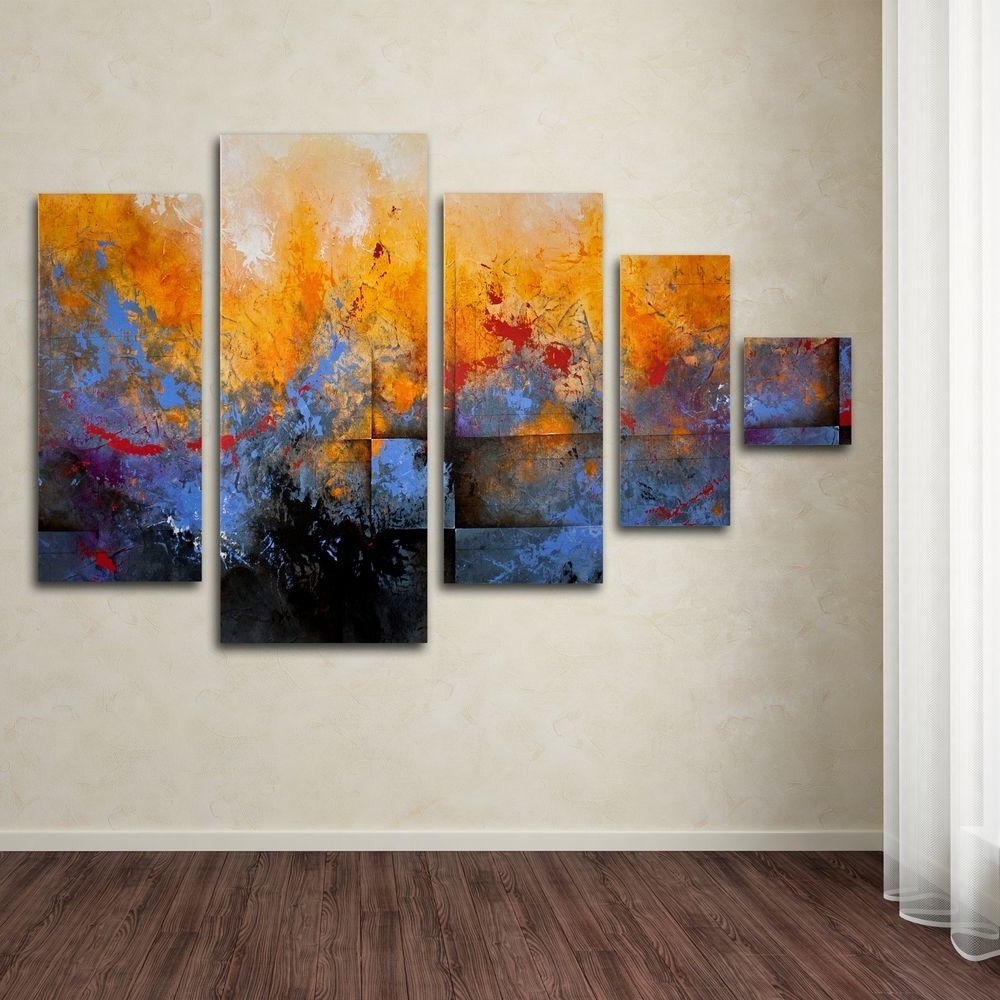 Famous Trademark Fine Art My Sanctuarych Studios 5 Panel Wall Art Set Inside Canvas Wall Art Sets (View 7 of 15)