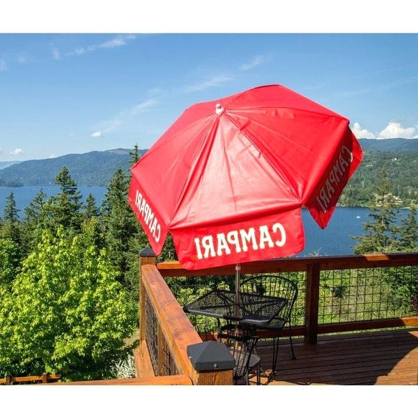 Famous Vinyl Patio Umbrellas With Fringe Pertaining To Vinyl Patio Umbrella Vinyl Patio Cafe Umbrella 6 Panel Vinyl Patio (View 1 of 15)