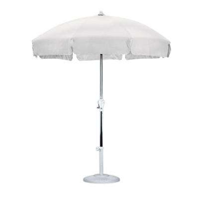 Famous White – Market Umbrellas – Patio Umbrellas – The Home Depot For White Patio Umbrellas (View 3 of 15)