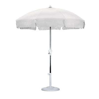 Famous White – Market Umbrellas – Patio Umbrellas – The Home Depot For White Patio Umbrellas (View 4 of 15)