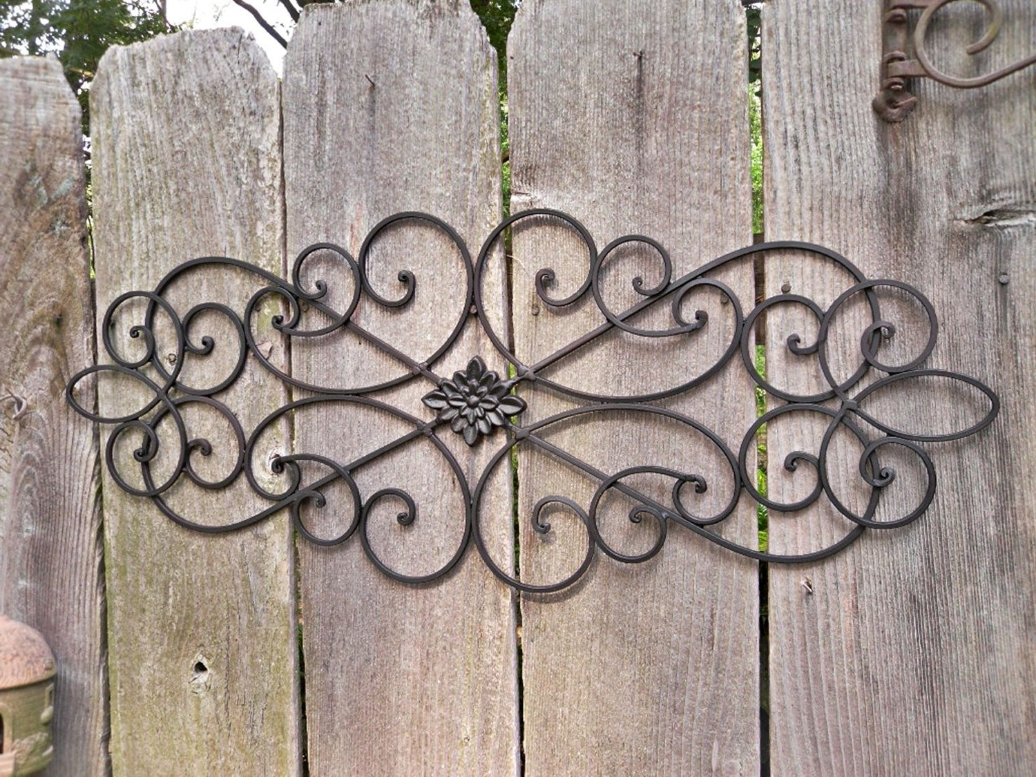 Fascinating Decorative Outdoor Wrought Iron Wall Art U Decor For With Regard To Most Recently Released Wrought Iron Wall Art (View 6 of 15)