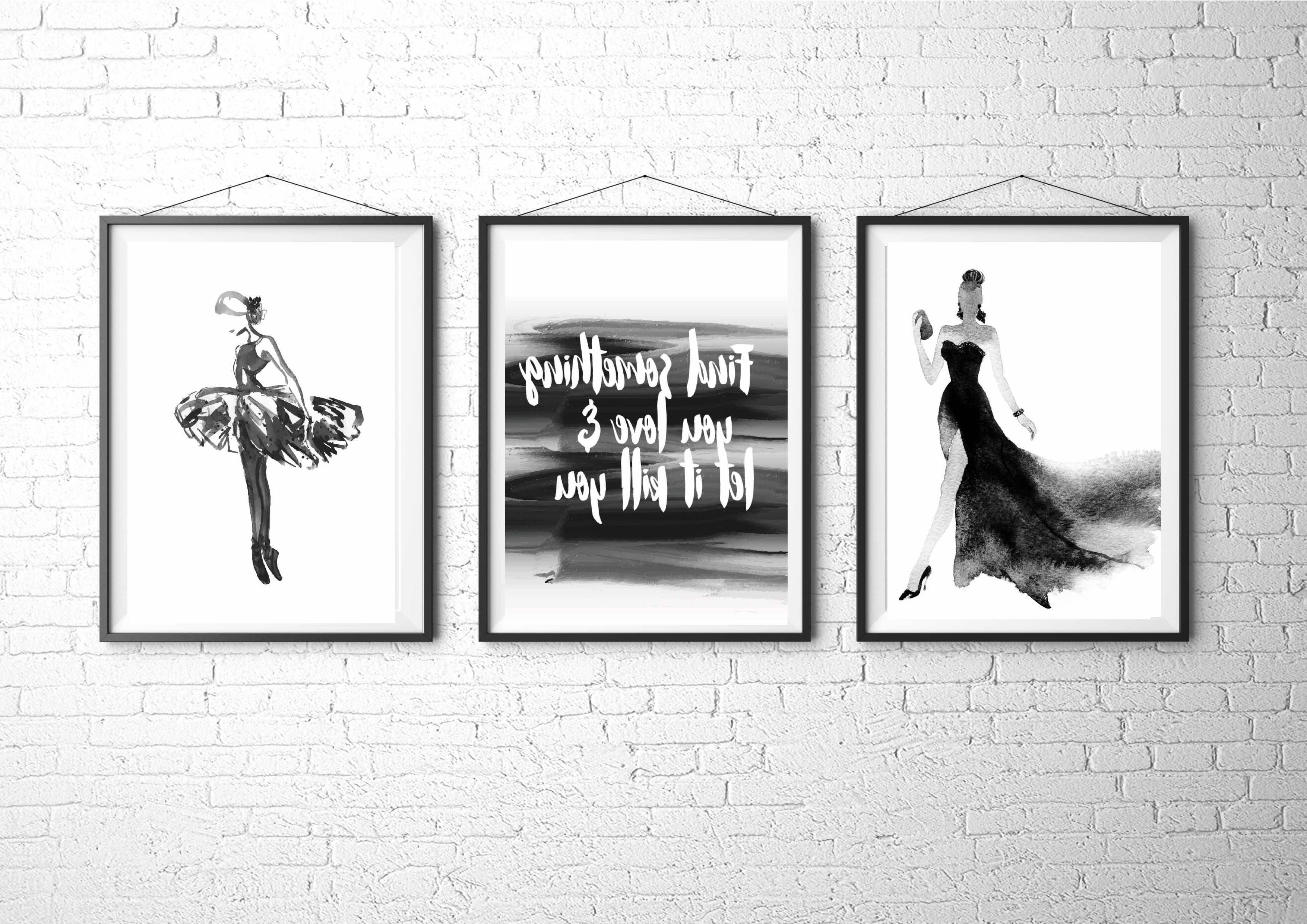 Fashion Illustration, Fashion Art Print, Fashion Poster, Vogue Regarding Well Known Fashion Wall Art (View 7 of 15)