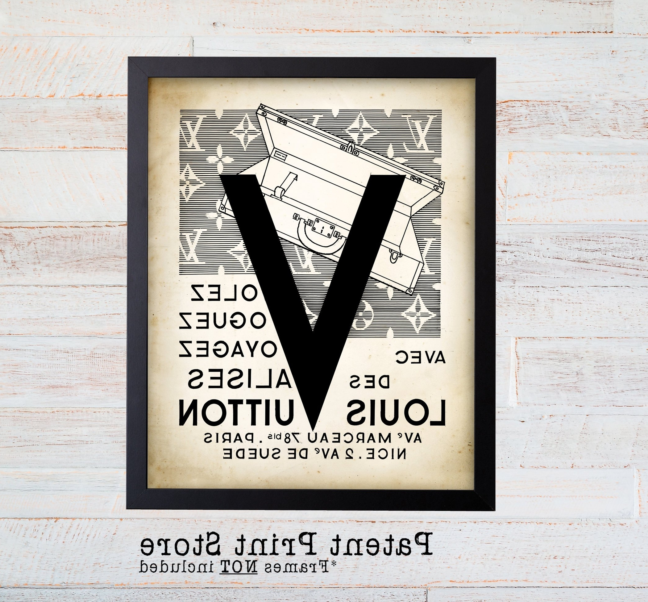 Fashion Wall Art In Famous Louis Vuitton Vintage Ad Wall Art Print (View 11 of 15)