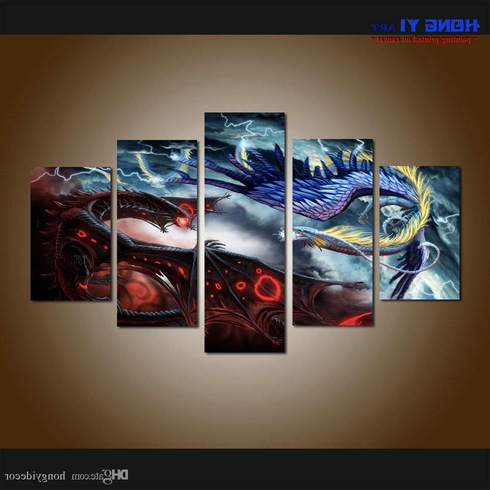Fashionable 2018 Large Home Decor Canvas Print Art Painting Wall Art Cartoon Throughout 5 Piece Wall Art Canvas (View 9 of 15)