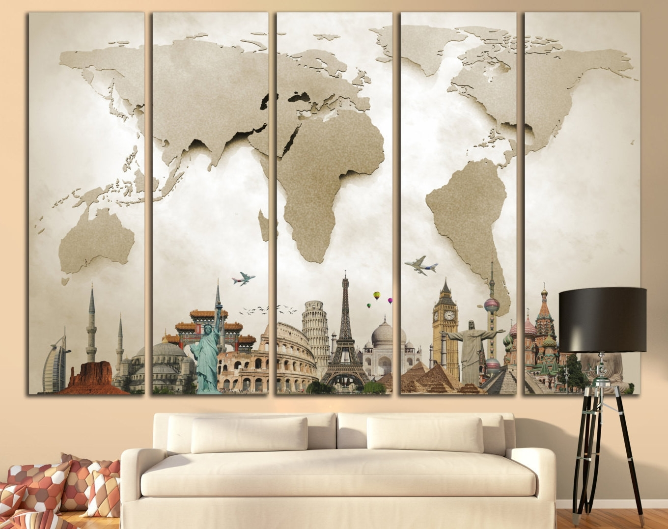 Fashionable 35 Fresh Vintage Map Wall Art Wall Art Decorative (View 12 of 15)