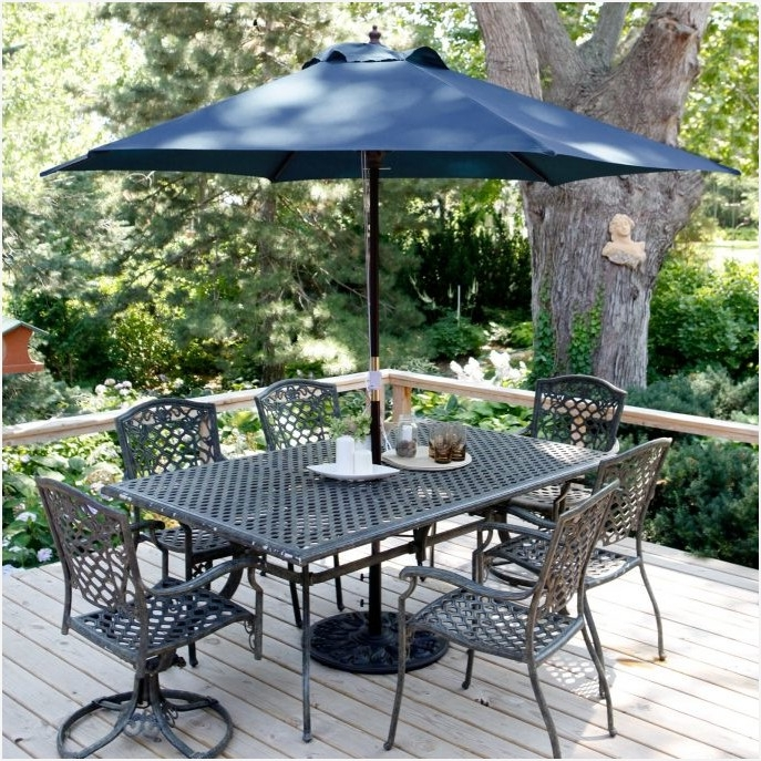 Fashionable 6 Ft Patio Umbrellas With 6Ft Patio Umbrella » Modern Looks Outdoor 7Ft Patio Umbrella Patio (View 8 of 15)