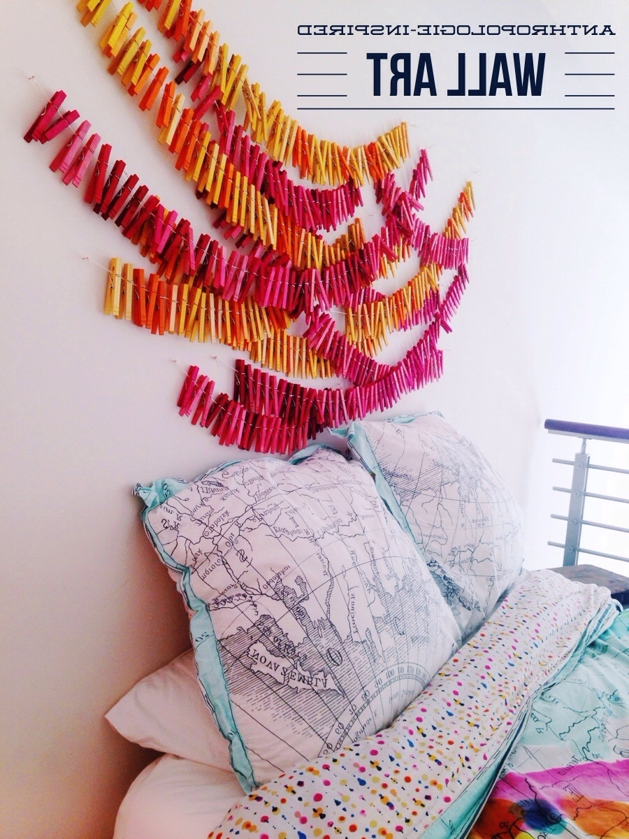 Fashionable Anthropologie Wall Art In Clothespin Wall Art • Your Biggest Fan, Grace (View 7 of 15)