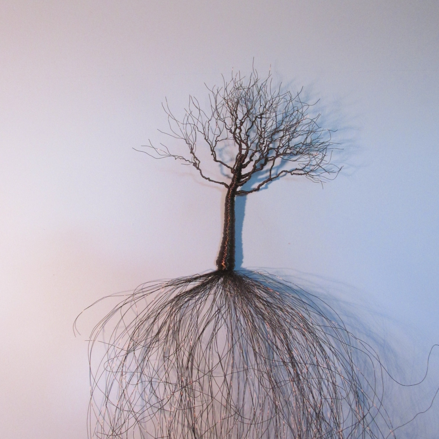 Fashionable Artistic Wire Design For Tree Of Life Metal Wall Art Decor Sculpture Inside Wire Wall Art (View 4 of 15)