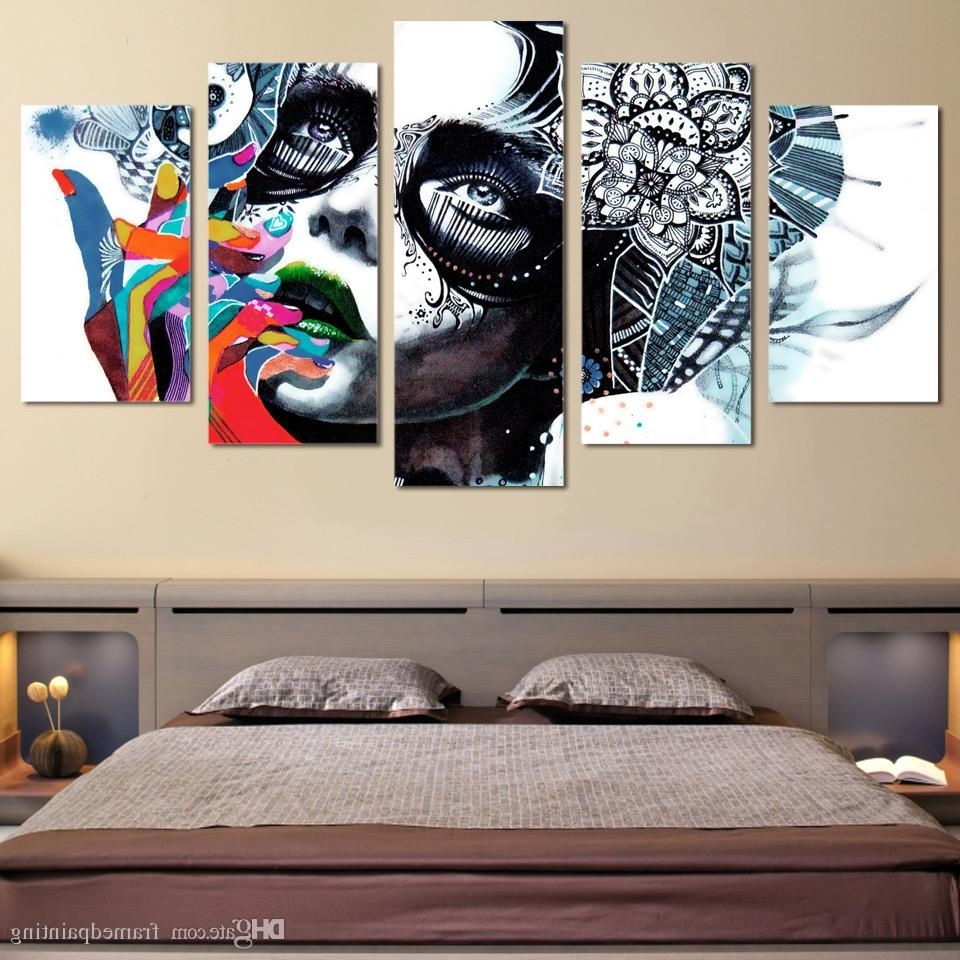 Fashionable Best Quality Framed Hd Printed Canvas Prints Wall Art Abstract Girl With Cheap Framed Wall Art (View 6 of 15)