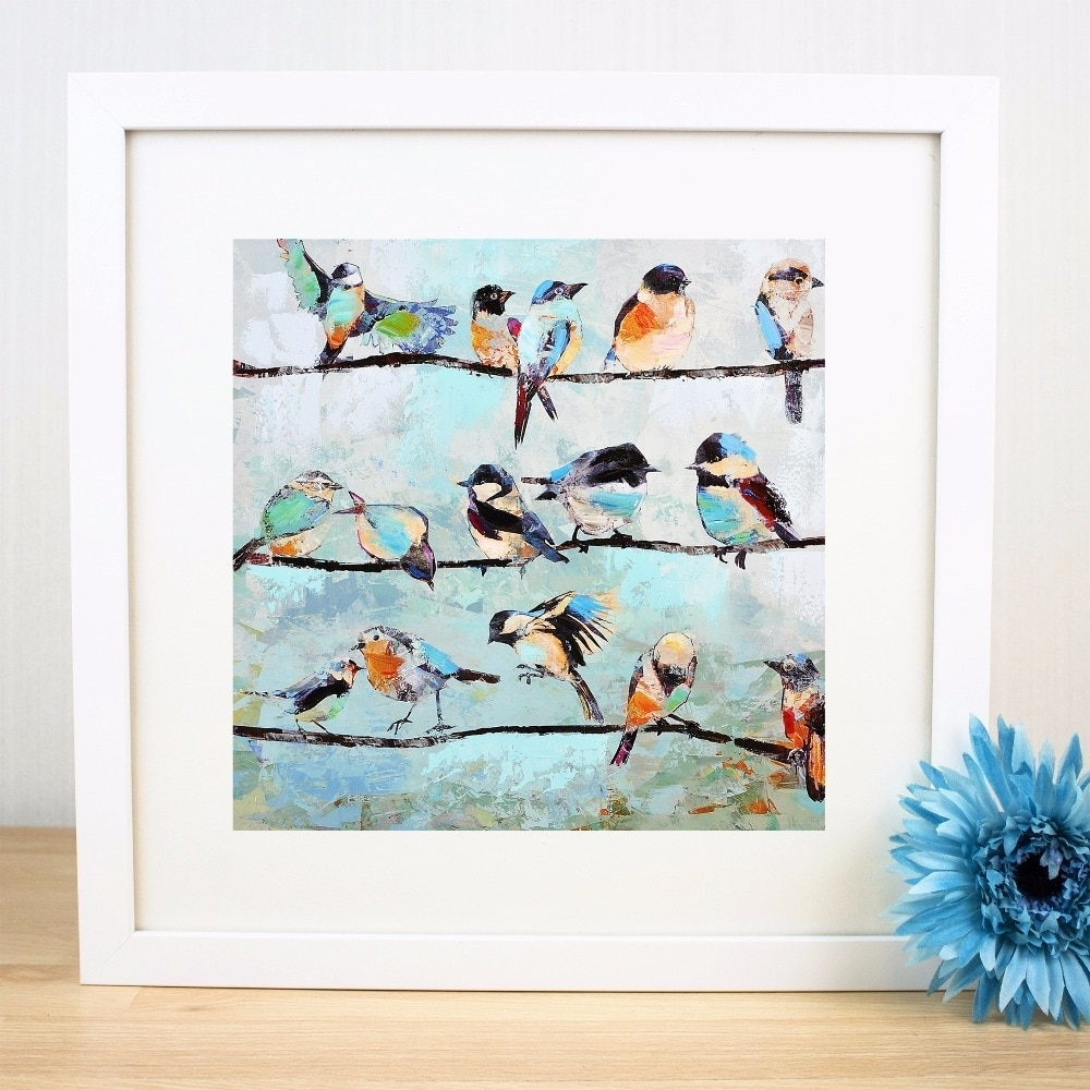 Fashionable Birds On A Wire Artwork Canvas Art Print Painting Poster Wall Within Birds On A Wire Wall Art (View 7 of 15)