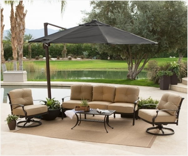 Fashionable Cantilever Patio Umbrella With Base » Finding Offset Umbrella Base In Lowes Cantilever Patio Umbrellas (View 11 of 15)