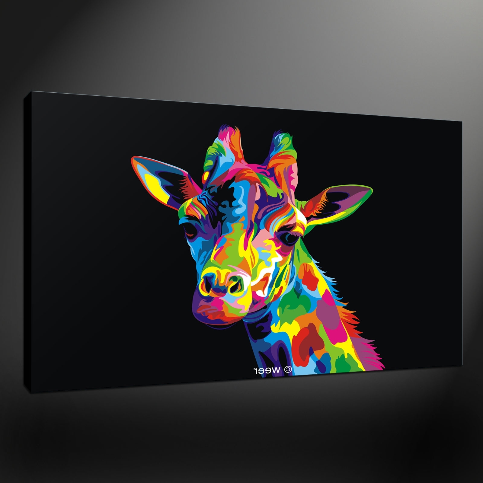Fashionable Canvas Print Picture Intended For Giraffe Canvas Wall Art (View 2 of 15)