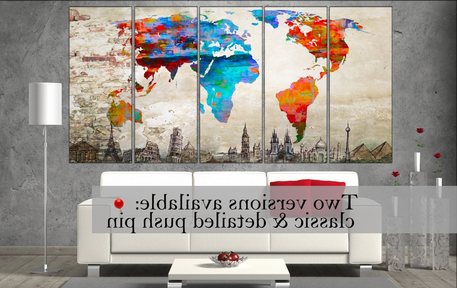 Fashionable Canvas Wall Art World Map Canvas Wall Art Canvas Wall Art Art (View 4 of 15)