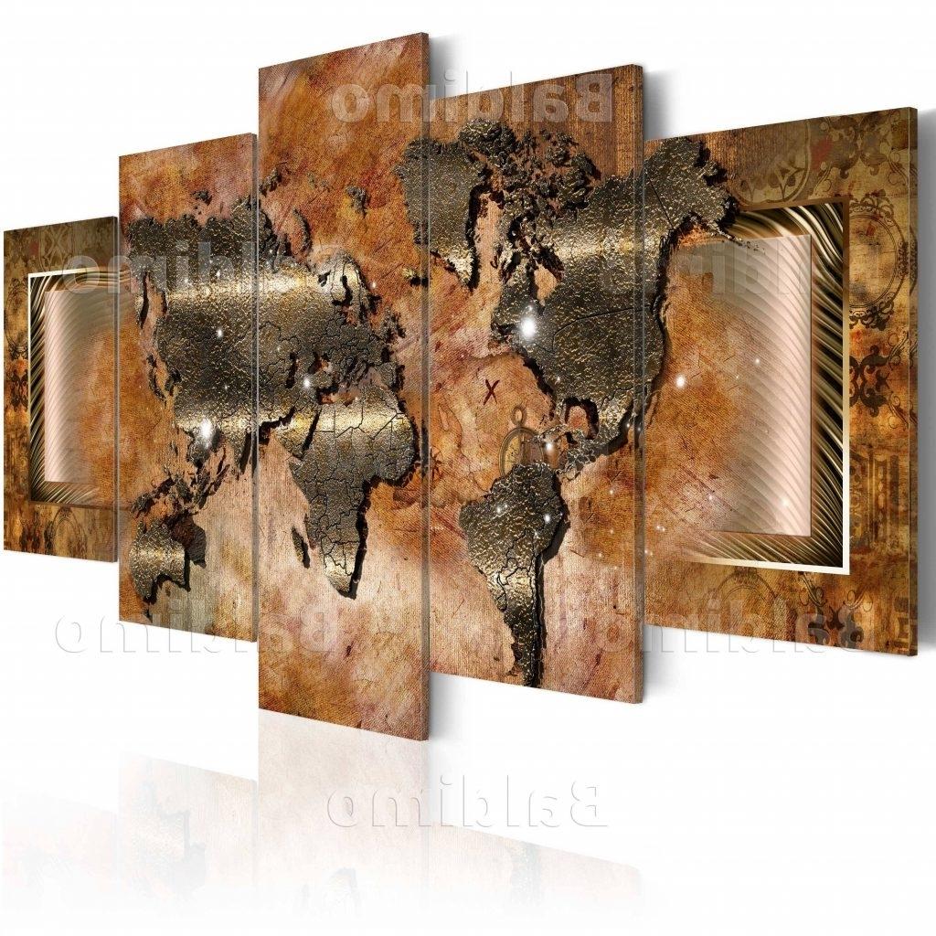 Fashionable Canvas World Map Wall Art – Blogtipsworld Regarding World Map Wall Art Canvas (View 7 of 15)