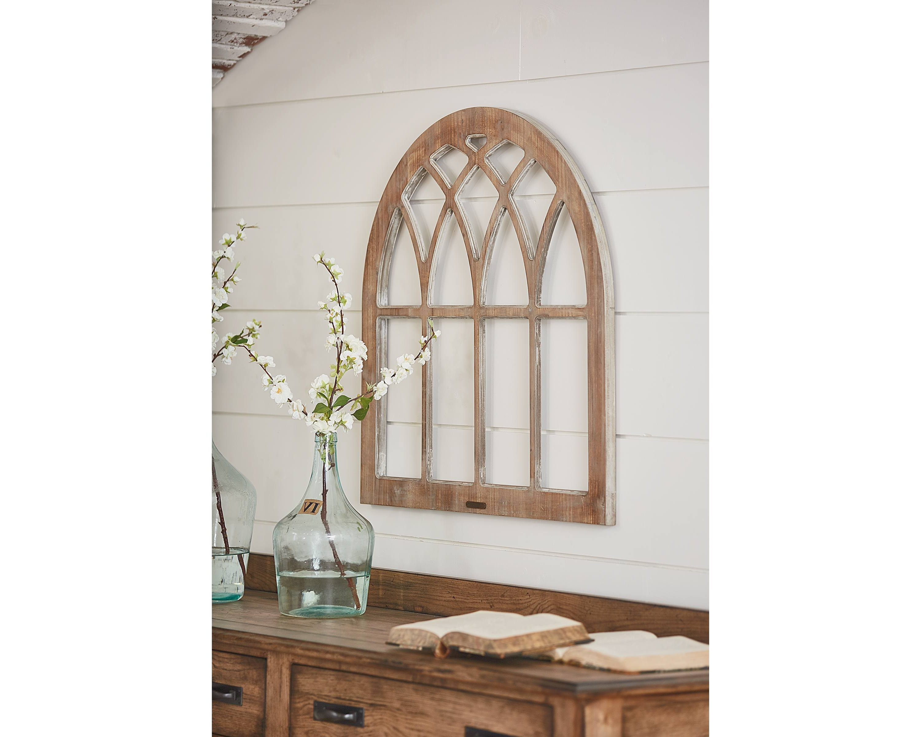 Fashionable Cathedral Window Frame Wall Decor - Magnolia Home within Window Frame Wall Art