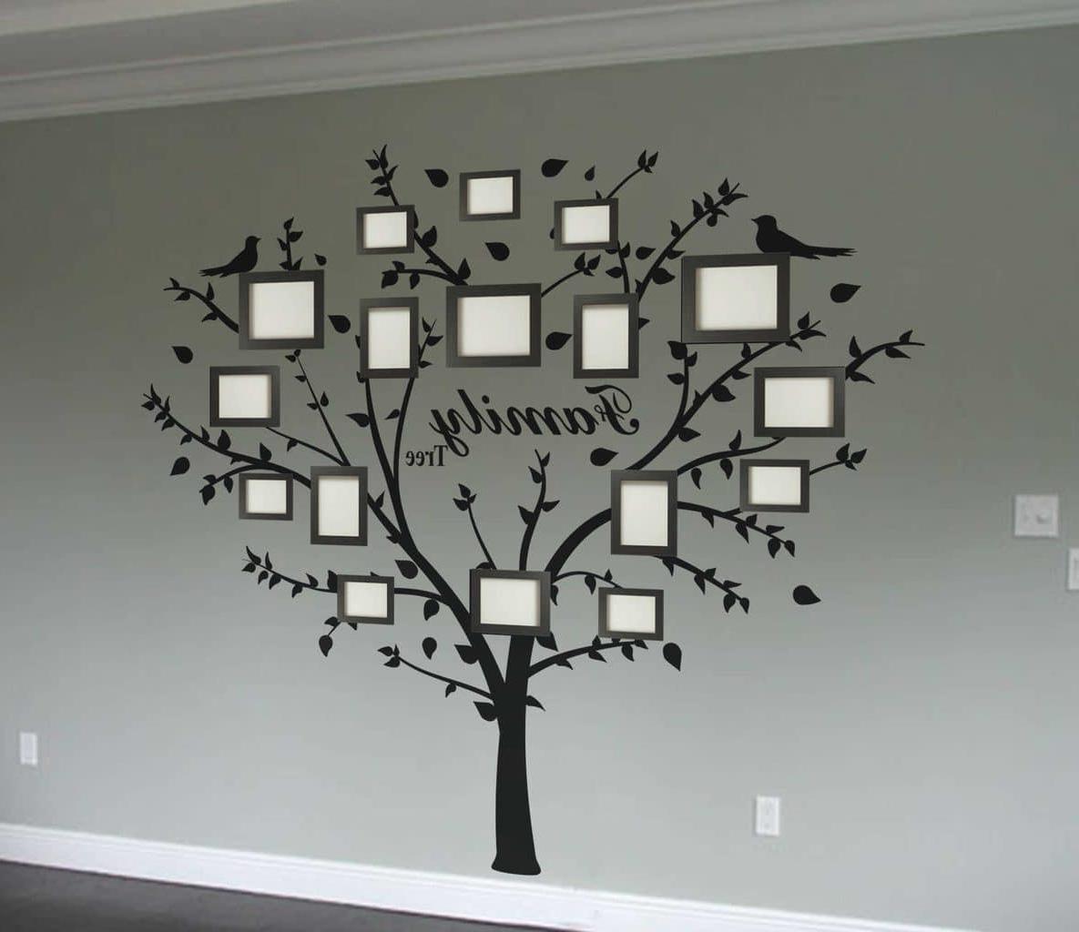 Fashionable Family Tree Wall Art Regarding Family Photo Tree Wall Decal Art Sticker – Luxury Mall (View 5 of 15)
