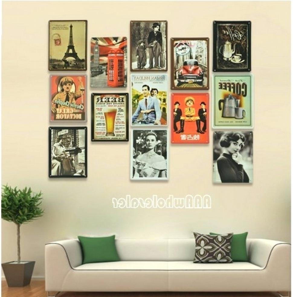 Fashionable Fascinating Interesting Retro Wall Decor Ideas Kitchen Art Diner Regarding Vintage Wall Art (View 3 of 15)