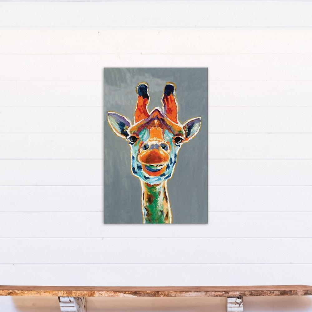Fashionable Giraffe Canvas Wall Art Within Designs Direct 36 In. X 24 In (View 4 of 15)