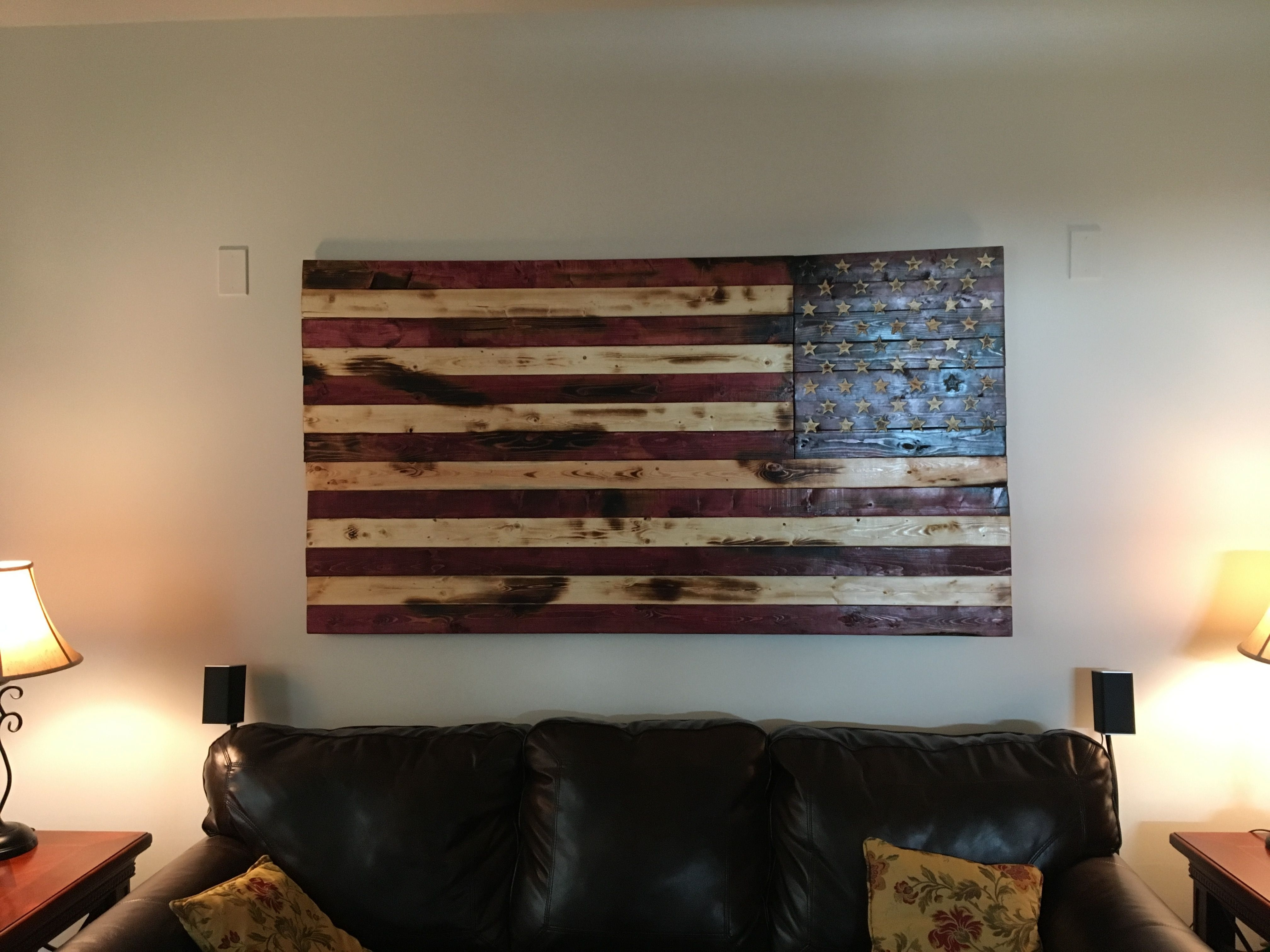 Fashionable Hand Crafted Rustic American Flag Wall Arto&e Woodworks Intended For Wooden American Flag Wall Art (View 6 of 15)