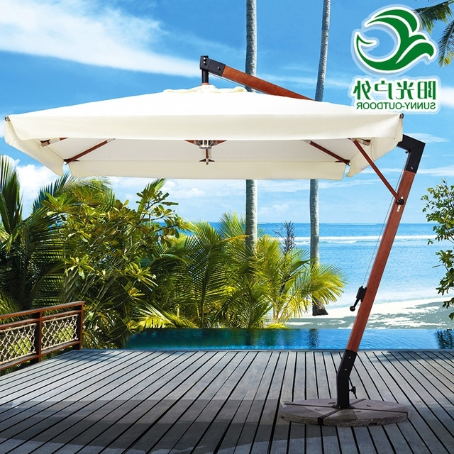 Fashionable High End Outdoor Garden Patio Umbrella Villa Wood Indonesia , 7 Rome In High End Patio Umbrellas (View 5 of 15)