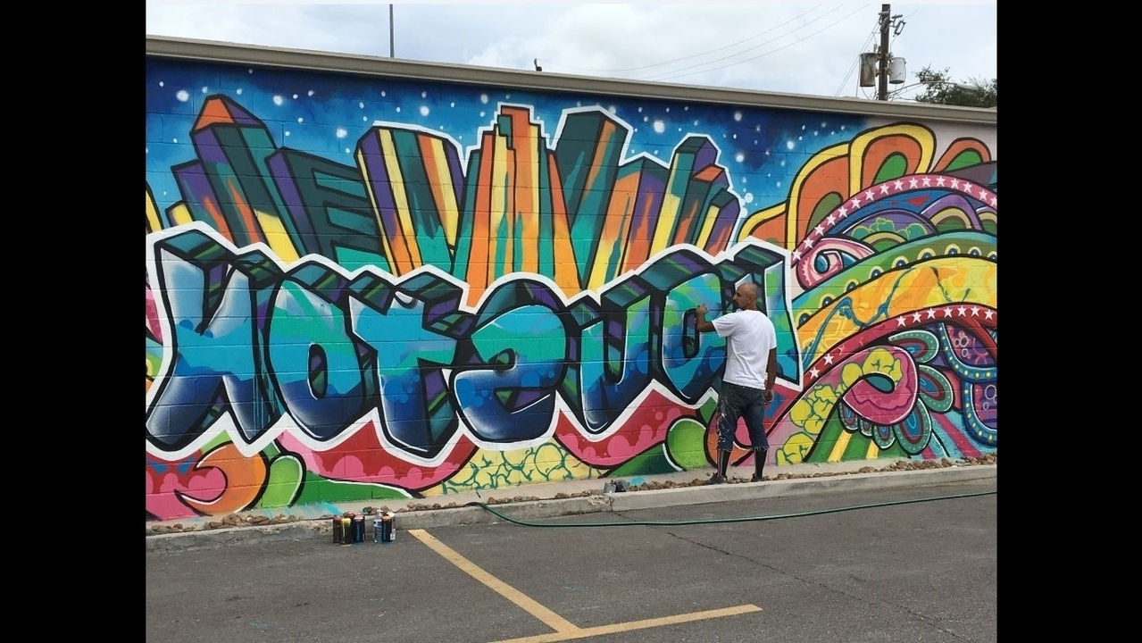 Fashionable Houston Wall Art With Regard To Downtown Urban Art Mural Vandalized During Festival (View 2 of 15)