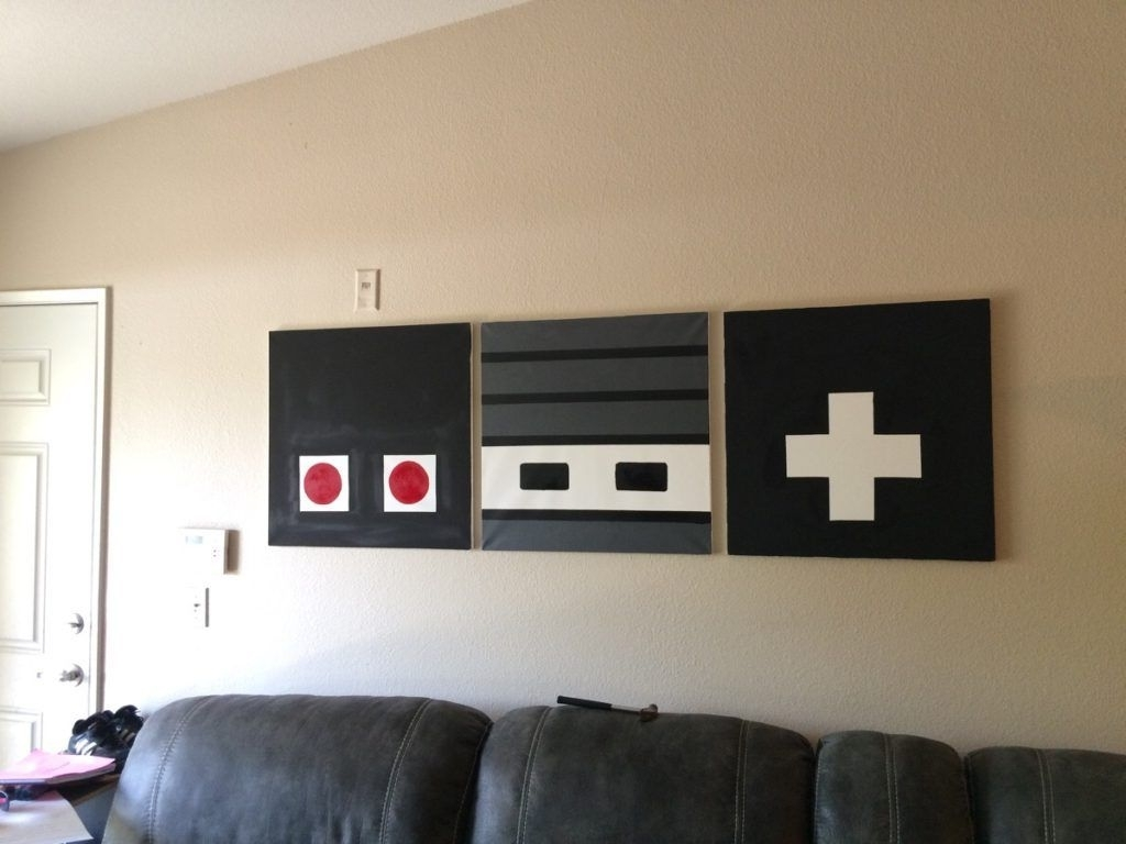 Fashionable Nintendo Wall Art For These 22 Man Cave Diys Will Spruce And Style His Getaway (View 5 of 15)