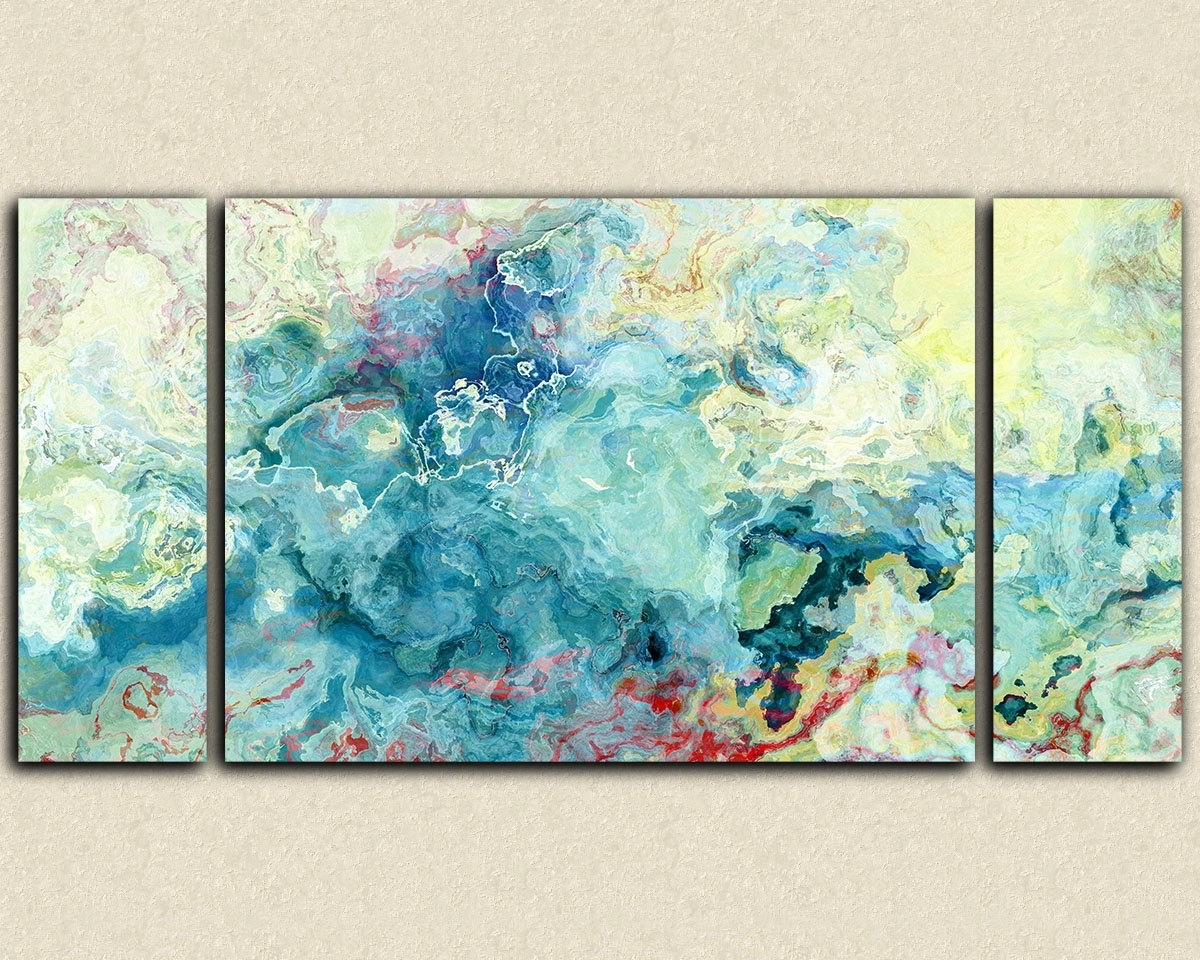 Fashionable Oversize Triptych Abstract Art Stre Amazing Oversized Abstract Regarding Abstract Oversized Canvas Wall Art (View 10 of 15)