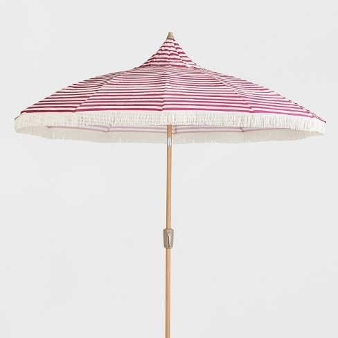Fashionable Patio Umbrellas With Fringe Intended For Pink Patio Umbrellas Foter – Arelisapril (View 2 of 15)