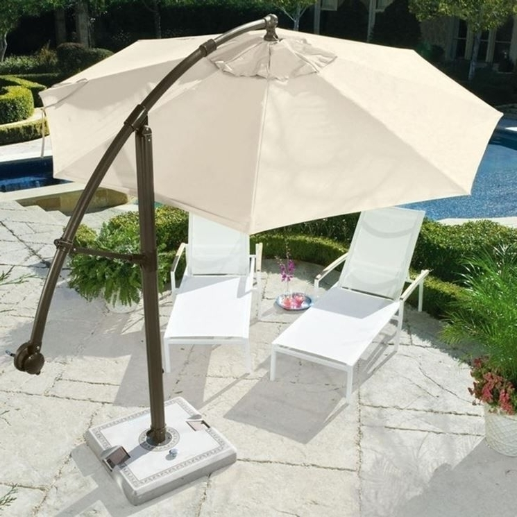 Fashionable Patio Umbrellas With Wheels Throughout 90 To 125 Lb Shademobile Rolling Patio Umbrella Base With Locking (View 3 of 15)