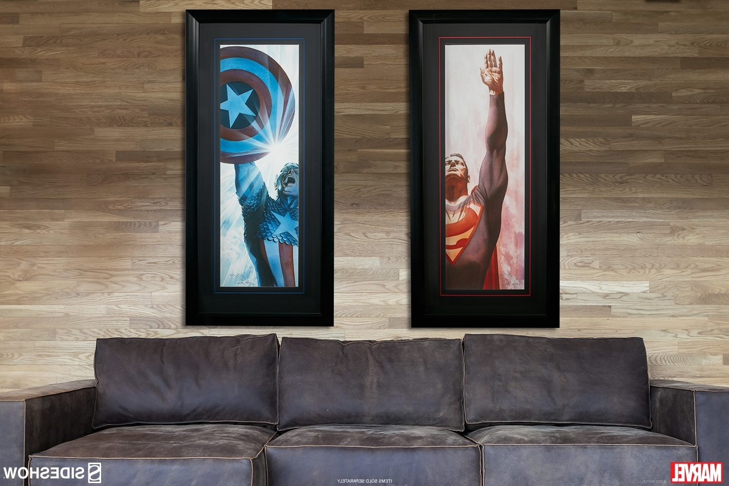 Fashionable Ross Wall Art Pertaining To Dc Comics Superman Immortal And Captain America Triumphant (View 3 of 15)