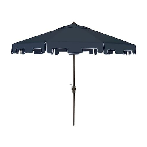 Fashionable Safavieh Pat8000 Zimmerman 9 Ft Drape Umbrella With Crank And Tilt In Drape Patio Umbrellas (View 8 of 15)