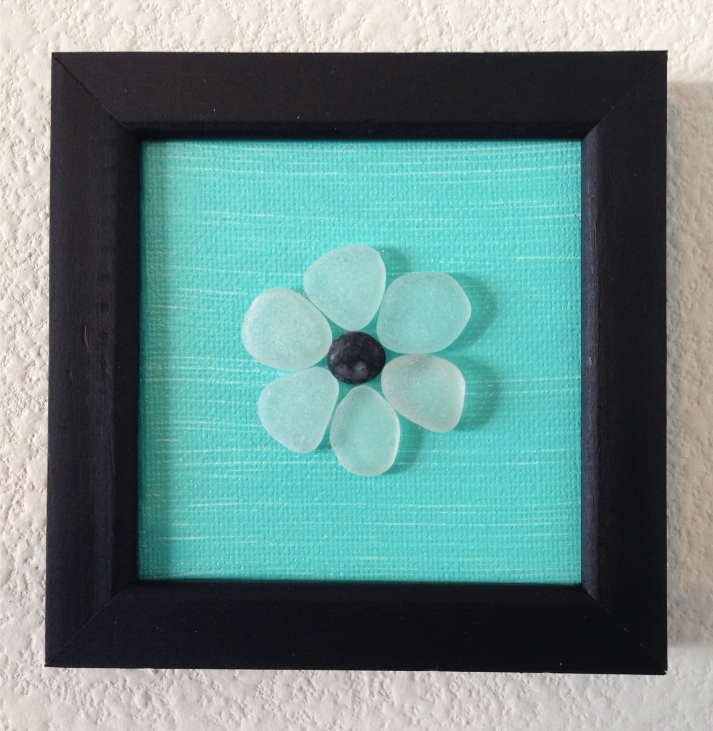 Fashionable Sea Glass Art/ Pebble Art/ Canvas Art/ Framed Art/ Acrylic, Sea Pertaining To Sea Glass Wall Art (View 5 of 15)